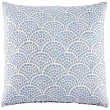Laal Light Indigo Pillow by John Robshaw
