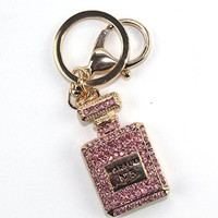 Goodlucky365 Cute Perfume Bottle Shaped Bling Keychain, Gift for Valentine