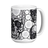 Abstract Skull&bone Abstract 15 Oz Stainless Steel Travel Mug