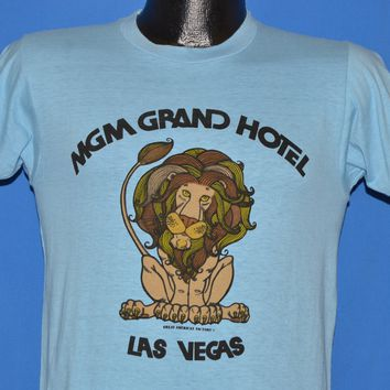 70s MGM Grand Hotel Las Vegas Lion t-shirt Small