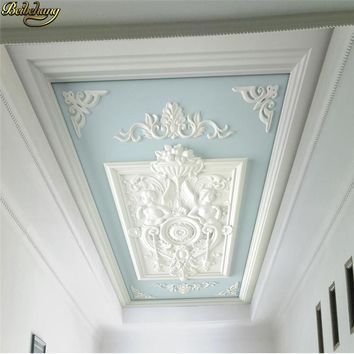 beibehang custom European relief carved ceiling wallpapers for living room background 3d floor painting photo mural wall papers