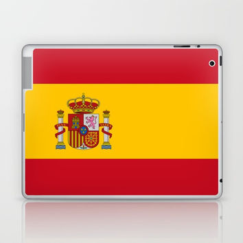 Flag of spain-spain,flag,flag of spain,espana,spanish,espanol,Castellano,Madrid,Barcelona, Laptop & iPad Skin by oldking
