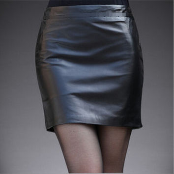 Popular Matte Leather Fashion Skirt