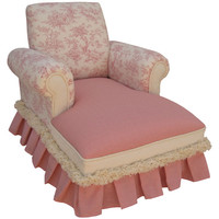 Angel Song 111020128 Toile Pink Child Club Chaise Lounge