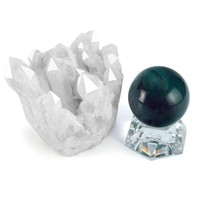 Quartz cluster with Fluorite Crystal Ball Set