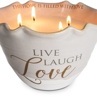 Live, Laugh, Love Four Wick Soy Candle