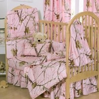 Realtree APC Pink 2 Piece Crib Set