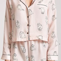 Cat Graphic Pajama Set