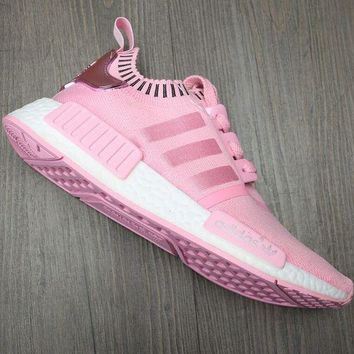 Adidas NMD Trending Women Men Breathable Sport Running Sneakers Shoes Pink I