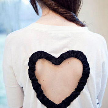 Heart Cut out Sweater Made to order Upcycled by BglorifiedBoutique