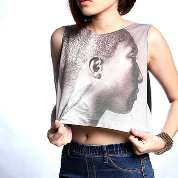 Pharrell Williams T Shirt Crop Top Tank Shirts Free Size S M
