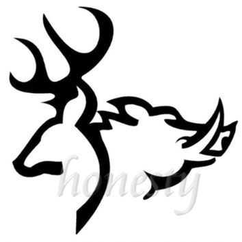 Deer Boar Window Home Glass Door Wall Car Sticker Laptop Auto Truck Black Animal Vinyl Decal Sticker Decor Gift 11.6cmX11.5cm