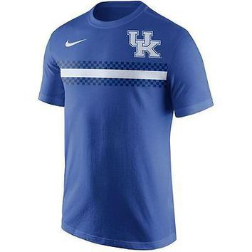 Kentucky Wildcats Men's Shirt Nike Team Stripe T-Shirt Royal