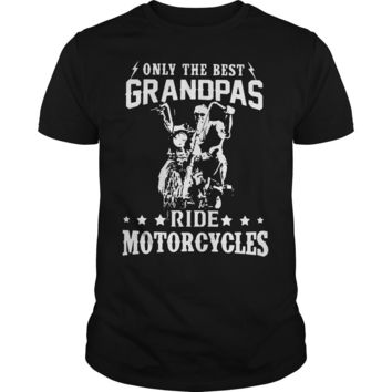 Only the best grandpas ride motorcycles shirt Premium Fitted Guys Tee