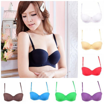 Gather sexy bra thicken padded lace cheap push up t-shirt bra for Young girl sexy1/2 cup bra for women underwire bra H093