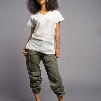 Shop Olive Cargo Pants on Wanelo