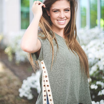 Fly Back Lace Up Tee