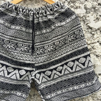 Aztec Ikat Woven Shorts Hippie Gift for Men Tribal Southwestern Boho festival Geometric Style Clothing Beach Summer Burning man Coachella