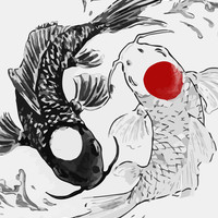 Koi fish ying yang Art Print by Maioriz Home