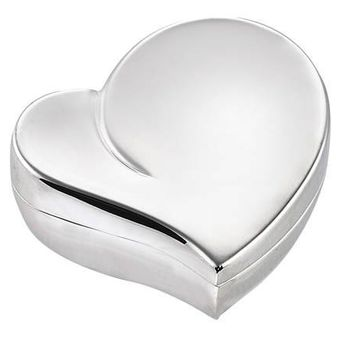 Free Engraved Personalized Silver Heart Trinket Box