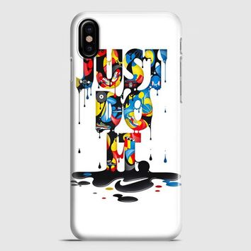 Nike Just Do It Art iPhone X Case