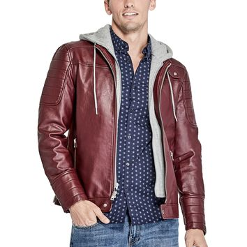 Donato Faux-Leather Moto Jacket