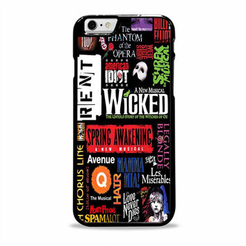 Broadway Musical Collage unique artwork Iphone 6 plus Cases