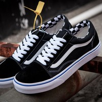 VANS x Supreme Old Skool Canvas Flat Sneakers Sport Shoes