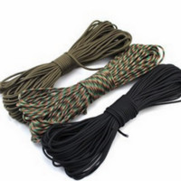 50 ft Paracord 550 Paracord Parachute Cord Lanyard Rope Mil Spec Type III 7 Strand