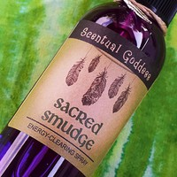 SACRED SMUDGE SPRAY - Liquid Sage Mist for Quickly Smudging Your Home Office or Car