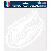 Florida Gators Die-Cut Decal - 8x8 White - New