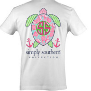 Simply Southern Turtle Tee - White