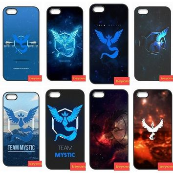 s Go Pokeball Team Mystic Hard Plastic Phone cover case for iphone 5 5S SE 6 6S S plus 7 7plus 8 8plus X coverKawaii Pokemon go  AT_89_9