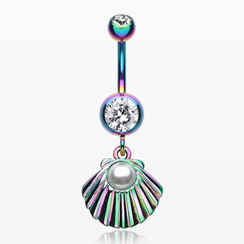 Colorline Ariel's Shell Dangle Belly Button Ring