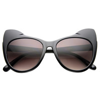 Women's Oversize Cat Eye Ear Tip Sunglasses 9692