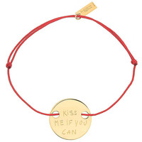 "adjustable bracelet ""kiss me if you can"" with thomas lelu"