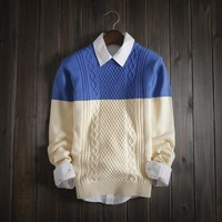 Men's 2 Tone Fashion Sweater
