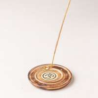 Circle Om Incense Burner