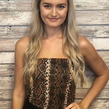 Girls Night Out Top- Snakeskin