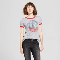 Women's Stranger Things Search for Will Ringer Graphic T-Shirt (Juniors') - Gray