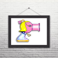 "The Muppets (Miss Piggy) Inspired Ray Gun Illustration 11 x 14"" Art-Print"