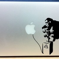 Banksy - Monkey Bomb - Vinyl Macbook / Laptop Decal Sticker Graphic