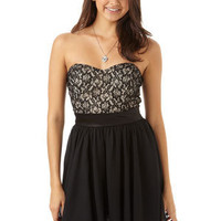 Lace Bodice And Chiffon Dress