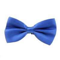 HDE Pre Tied Adjustable Satin Polyester Tuxedo Wedding Party Bowtie (Cobalt Blue)