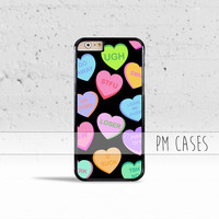 Insulting Candy Hearts Case Cover for Apple iPhone 4 4s 5 5s 5c 6 6s Plus & iPod Touch
