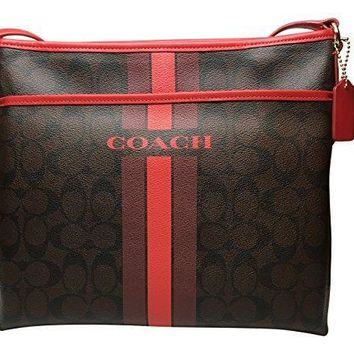 Coach Women's Varsity Stripe File Crossbody Bag In Signature Style F38402