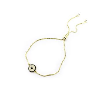 EVIL EYE ADJUSTABLE CHARM BRACELET | Jessie Dugan