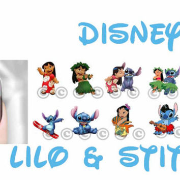 Nail Art Decal Disney Lilo Stitch n Friends Transfer Set of 40 Images Adult Kid Sz