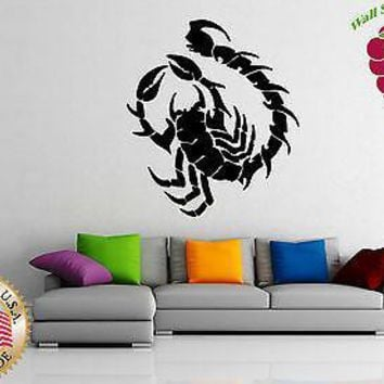 Vinyl Sticker Wall Art Decor Scorpion Outline Horoscopes Astronomy Desert Unique Gift EM207