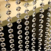 3.3 FT Crystal Clear Acrylic Bead Garland Chandelier Hanging wedding supplies #lsstore1866# = 1932961412